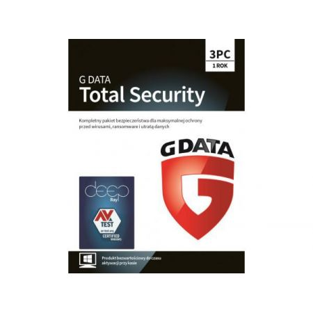 GDATA GDATA TOTAL SECURITY 3 PC 1 ROK