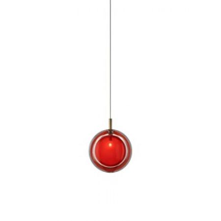 Bomma :: lampa wisząca lens single pendant  red