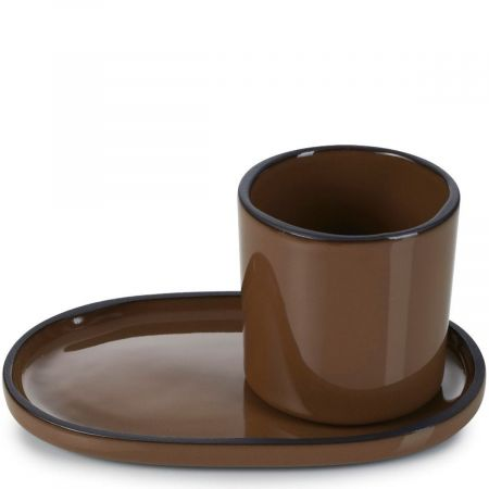 Filiżanka do espresso porcelanowa 80 ml caractere revol tonka (rv-652692-4)