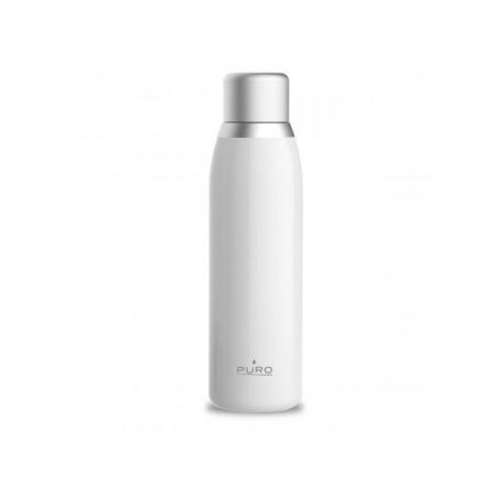 PURO Smart Bottle - Butelka termiczna 500ml INOX z inteligentną nakrętka LED (White)