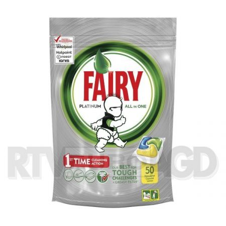 Tabletki do zmywarki Fairy Platinum All in One Lemon 50 szt.