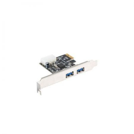 LANBERG Karta PCI Express - USB 3.1 GEN1 2-Port + Śledź Low Profile