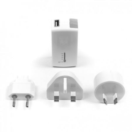 Targus 2-in-1 USB Wall Charger & Power Bank - White